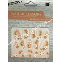 Buy cheap Artificial Manicure Cool Elegant Art Color Flower 3d Fingernail Stickers For Glass from wholesalers