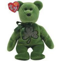 """Ty 2.0 Beanie Babies 8"""" Luckier St. Patrick's Day Bear Manufactures"""