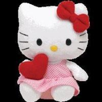 "Ty Beanie Babies 8"" Hello Kitty Red Heart Manufactures"