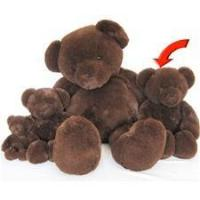 "Beverly Hills Teddy Bear Deluxe 20"" Chocolate Belvedere Manufactures"