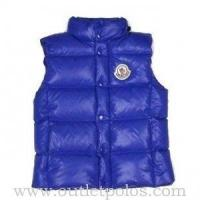 China Moncler Women's Quilted Body Warmer Vest Blue on sale