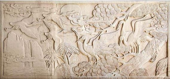 Quality White marble sculpture Sandstone anaglyph JX-016 for sale