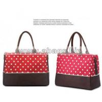Wholesale Fashion Large Capacity Diaper Bag with Dot Bag Factory- in stock#A01-0009 Manufactures