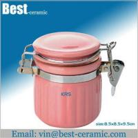 Buy cheap Ceramic jar&canister coffee ceramic airtight storage canister from wholesalers