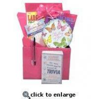 Gift for Cancer Patient |Boredom Buster Get Well Gift Basket with Book in Pink Manufactures