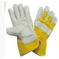 China Cow Split Leather Gloves Personalised Cow Split Leather Gloves With rubberized Cuff For Warehousing on sale