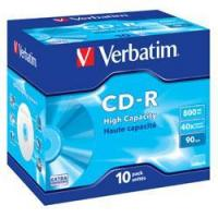 VERBATIM CD-R 40x HIGH CAPACITY 90Min (43428) 10 Discs in Jewel Cases (800Mb/90Min) Manufactures
