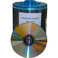 SONY DVD-R 16x A-TC-16-2/0.0 RE TRANSFER CLEAR DISC 100 Discs in Plasic Wrap (4.7Gb/120Min) Manufactures