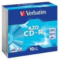 Verbatim CD-R 52x (43342) 10 Discs in Slimline Jewel Cases (700Mb/80Min) Manufactures