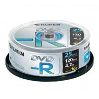 FUJI DVD-R 16x Speed 25 Discs in Spindle Tub (4.7Gb/120Min) Manufactures