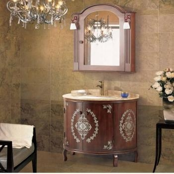 quality round bathroom cabinet with mirror cabinet for sale