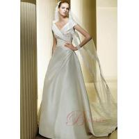 China Wedding Dresses 2011 Ball Gown V-Shaped Neckline Shoulder Straps Catheral Train Satin wyn-w119 on sale