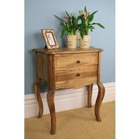 China Oak Lamp Table 2 Drawer on sale