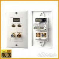 HDMI Wall Plates 1080p HDMI Wall Plate w/ 2RCA Audio & Dual Ethernet RJ45 Network Manufactures