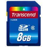 Transcend 8GB Secure Digital High Capacity (SDHC) Card - Class 6 - 8 GB Manufactures