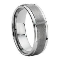 China Comfort-fit Tungsten Carbide Wedding Ring with Dual Finish  9 mm - MTG0004 on sale