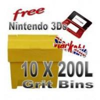 Offers with Free Gifts 10x 200 Litre Grit Bins with Free Gift Manufactures