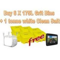 Offers with Free Gifts 6x 175 Litre Grit Bins and 1 Tonne White Rock Salt with Free Gift Manufactures