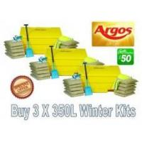 Offers with Free Gifts 3x 350 Litre Grit Bin Winter Pack with Free Gift Manufactures