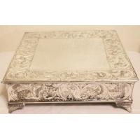 China 14 Inch Silver Square Wedding Cake Stand Plateau on sale