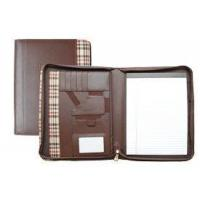 Zippered Bonded Leather Fabric-Trimmed Padfolio Manufactures
