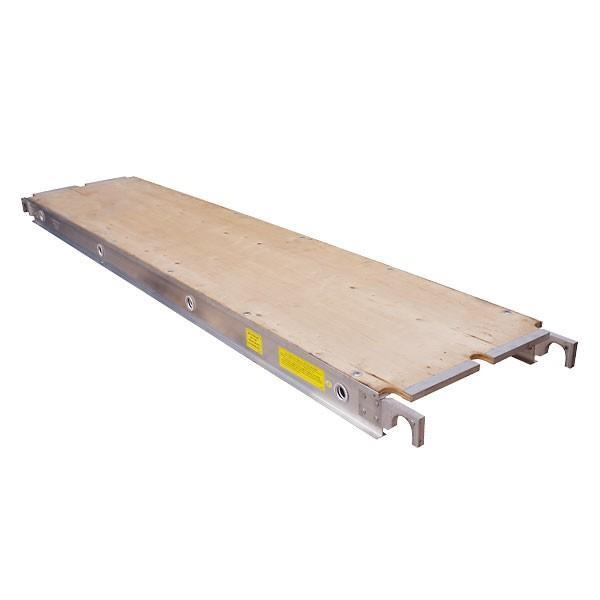 Aluminum scaffold plank walk board with plywood top 19 for Decking planks for sale