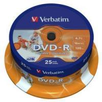 VERBATIM DVD-R 16x FULL FACE PRINTABLE (43538) Manufactures