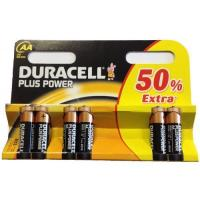 Duracell Plus Power AA Size (MN1500) Battery Pack of 6 (4 + 2 Extra) Manufactures