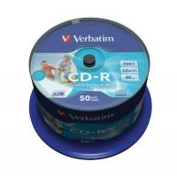 VERBATIM CD-R 52x FULL FACE INKJET PRINTABLE (43309) Manufactures