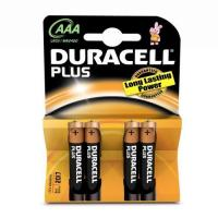 Duracell plus aaa battery pk4 1.5v Manufactures
