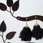 Quality Chunky crocheted textile earrings for sale