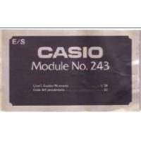 China Casio CL-301 CL301 Module 243 LCD Watch User's Manual PDF on sale