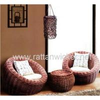 Willow sofa sets, wicker sofas with willow tea coffee table Manufactures
