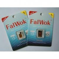 Nano FalWok Unlock sim card for iPhone 5 work 3G sim card support iOS 7 support all carriers Manufactures