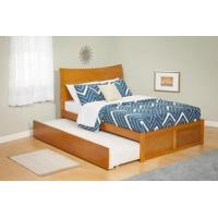 China Modern Soho Twin Size Platform bed Flat Panel with Trundle Bed Furniture on sale