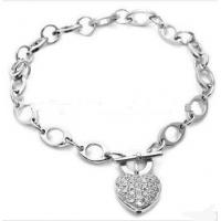 stainless steel crystal Heart Bracelet Manufactures