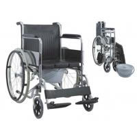 China Commode Wheelchair IDO-626-WC Folding Commode Wheel Chair on sale