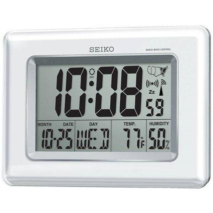 China Seiko QHR020WLH Radio Controlled LCD Clock