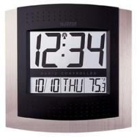 China Atomic Wall Clock w/Indoor Temperature by La Crosse on sale