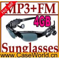 Electronic Product name:4GB Sunglasses Mp3 Player with FM Radio Headset Sun Glass Manufactures
