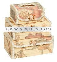 Quality Bamboo Crafts(285) Bamboo tissue box for sale
