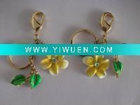 Artificial Crafts(970) 2012 Metal Beautiful flowers item keychain Manufactures