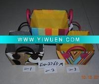 China Artificial Crafts(970) mixed colored paper basket with high quality
