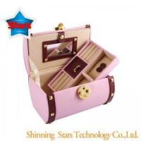 China New Style Jewelry Boxes Cylinder Shaped Portable Jewelry Display Case on sale