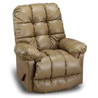 China Large Recliners Brosmer Swivel Rocker Recliner in Bonded Leather on sale