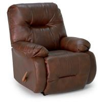 China Large Recliners Brinley Swivel Rocker Recliner in Bonded Leather on sale