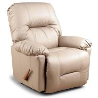 China Large Recliners Wynette Swivel Rocker Recliner in Bonded Leather on sale