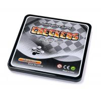 Magnetic Games MAGNETIC CHECKER GAME W/SQUARE TIN BOX
