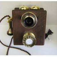 Traditional Phones Original wood wall phone with new brass fittings. Manufactures