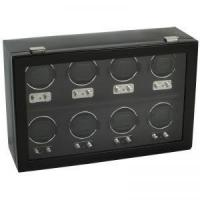 China Wolf Heritage 2.1 8PC Watch Winder with Cover - Black on sale